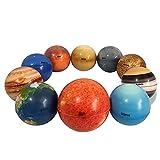 10 Piezas Bola Antiestrés, Bolas De Planetas del Sistema Solar, Juguetes Sensoriales De Planetas, Juguetes Educativos, Bolas de Antiestrés para niños y Adultos