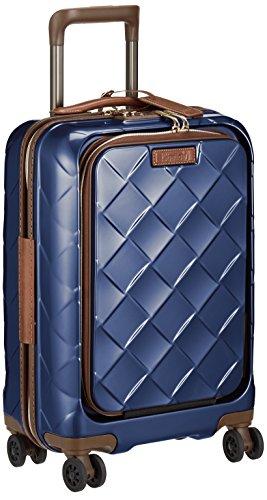[ストラティック] スーツケース ジッパー レザー&モア 機内持ち込み フロントオープン(前開き) 保証付 33L ...