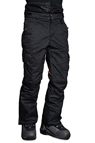 Stayer isolierte Thermo-Hose Herren Skianzug-Hose Snowboard-Hose Freeride Winter-Sport Jeans-Look schwarz (XL)