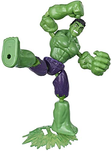 Avengers- Bend and Flex Figura Hulk 15 Cm (Hasbro E78715X0) , Color/Modelo Surtido