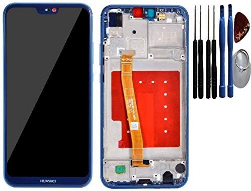 SPES LCD-display voor Huawei P20 Lite touchscreen, frame, blauw, incl. gereedschap