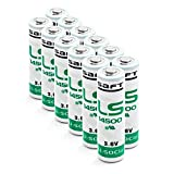 12 Stück Saft LS 14500 AA 3,6V Li-SOCl2 Batterien / 3,6V Lithium-Thionylchlorid AA R6, LS14500, 12 in Folie