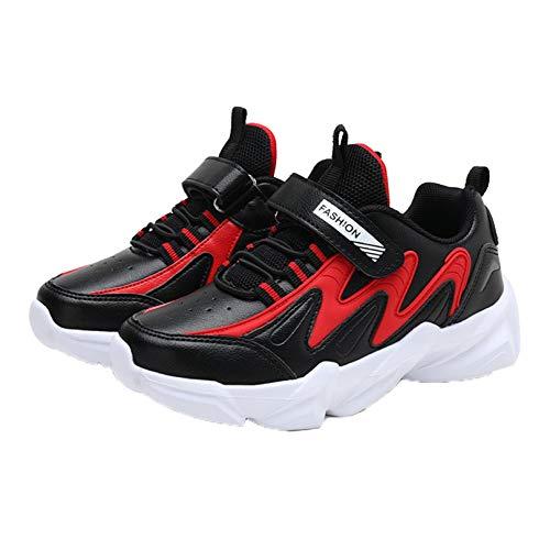 Zapatillas de Deporte para niños cómodas Transpirables de Color Mixto Casuales con Plataforma Zapatillas Deportivas al Aire Libre Antideslizantes para Correr para niños
