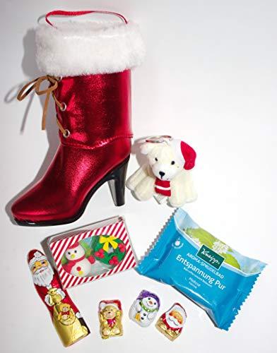 110721 Damen Weihnachts Stiefelette gefüllt mit Engel Entspannung Nikolausstiefel Nikolaus Weihnachts Stiefel Geschenk