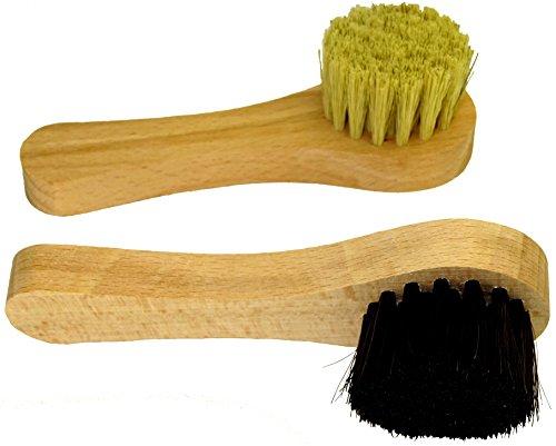 DELARA Dos cepillos de Crema Hechos de cerdas Naturales - Colores: Negro y Natural