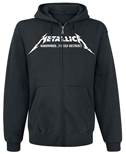 Metallica Hardwired...To Self-Destruct Sudadera capucha con cremallera Negro S