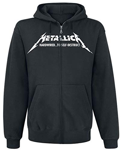 Metallica Hardwired...To Self-Destruct Sudadera capucha con cremallera Negro S