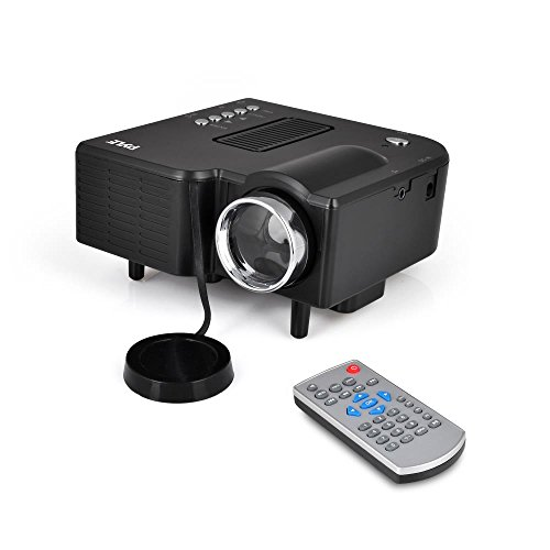 Full HD 1080p Mini Portable Pocket Video & Cinema Home Theater Projector - Built-in Stereo Speaker, LCD+LED Lamp, Digital Multimedia, HDMI, USB & VGA Inputs for TV PC Game Business Computer & Laptop