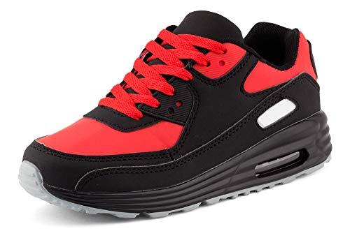 Fusskleidung Unisex Damen Herren Sportschuhe Übergrößen Laufschuhe Turnschuhe Neon Sneaker Schuhe Schwarz Rot Weiß Weiß EU 42