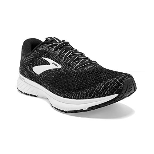 Brooks Womens Revel 3 Running Shoe - Black/Blackened Pearl/White - B - 6.0
