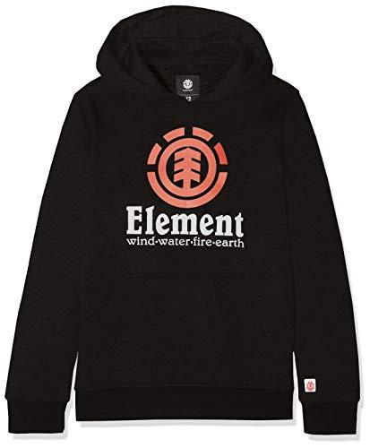 Element Vertical Hood Boy Fleece, Niños, Flint Black, 14