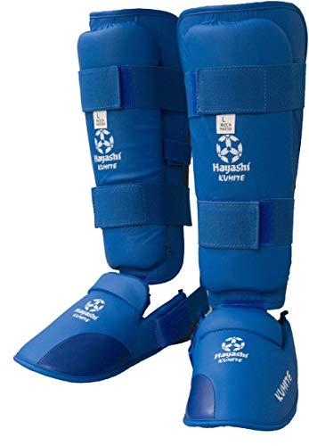 Hayashi Karate Schienbeinspannschutz Blau L