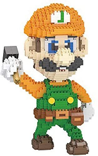 SCXY Cartoon Bausteine Modell Mario Bros Figuren Block Spielzeug für Kinder, B