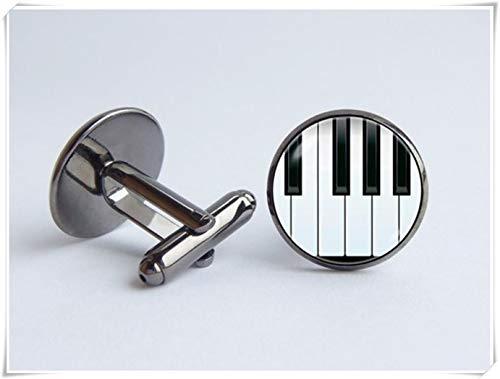 Klavier-Manschettenknöpfe Klaviertasten Musik-Manschettenknöpfe Musikschmuck Geschenk für Musiker Klavierschmuck Musikinstrument Jubiläumsgeschenk Klaviergeschenk