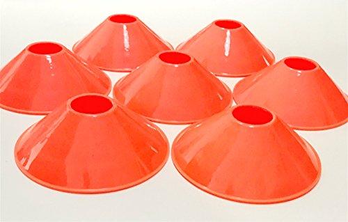 Markierungshütchen orange/Hütchen für Rugby Football Fußball Sport Feldübungen Drill, Markierung Mini Marker Untertasse Konus-Set, 25-teilig