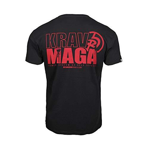 Pulgares Down Krav Maga Camiseta Israel Sistema de Auto Defensa MMA. Gimnasio Entrenamiento. Marcial Artes Informal - Negro, Medium