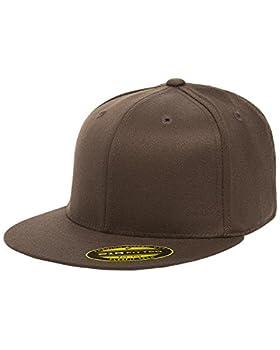 Flexfit Premium Flatbill Cap – Fitted 6210 - Large/X-Large  Brown