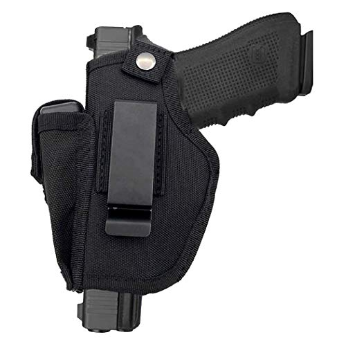 SkyCity Ambidexterous Carry Holster Universal Holster IWB OWB Magazine Holster for Right and Left Hand with Interchangeable Metal Clip