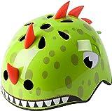 Casco para niños de 2 a 5 años, ajustable, casco de bicicleta para niños, ligero y resistente, artículo deportivo, diámetro 50 – 54 cm (dinosaurio verde)
