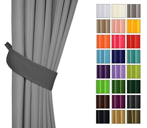 Rollmayer Vorhänge mit Bleistift Kollektion Vivid (Grafit 33, nur Drapierung) Blickdicht Uni einfarbig Gardinen Schal für Schlafzimmer Kinderzimmer Wohnzimmer