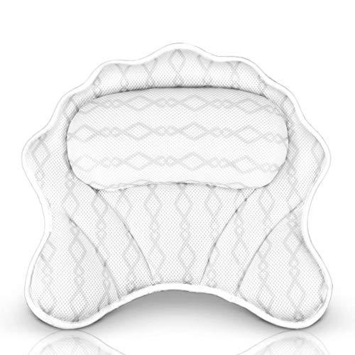 Luxury Bath Pillow Bathtub Pillow - Bath Tub Cushion for Head, Neck, Shoulder and Back Support, Hot Tub Head Rest Bath Accessories...
