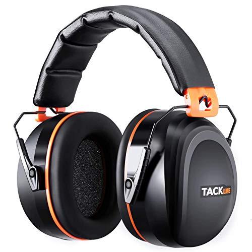 Gehörschutz, TACKLIFE Kapselgehörschutz mit SNR 34dB und CE-Zertifizierung, verstellbare und komfortabele Ohrenschützer für Erwachsene, perfekt für laute Umgebung und das Bedürfnis nach Ruhe—HNRE1