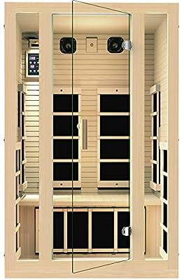 JNH Lifestyles 2 Person Far Infrared Sauna 7 Carbon Fiber Heaters