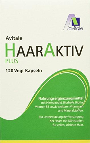 Avitale Haaraktiv Plus Vegi Kapseln, 120 Stück, 1er Pack (1 x 64 g)