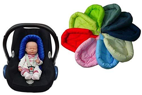 Sweet Baby ** SOFTY GRIS OSCURO ** Reductor para silla de bebé Maxi Cosi/Römer etc. / Protector de cuerpo para coche (0-6 meses)