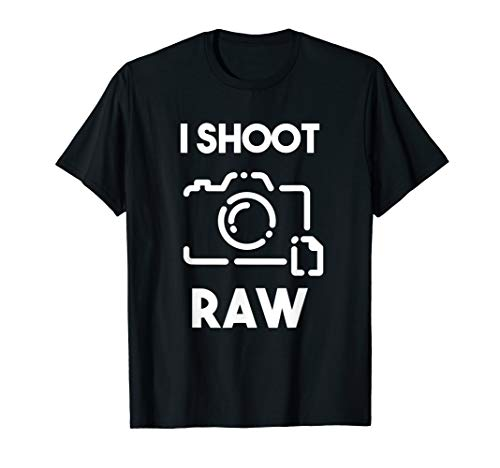 I Shoot Raw T-Shirt Kamerablende Kameralinse Fotografie T-Shirt