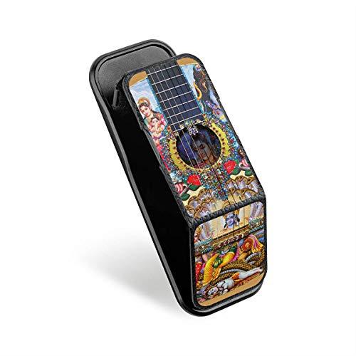 DeinDesign Cover kompatibel mit CLCKR Smartphone Halterung Ausziehbarer Griff Fingerhalter Ständer Finger-Halterung Handyhalterung Schwarz Gitarre