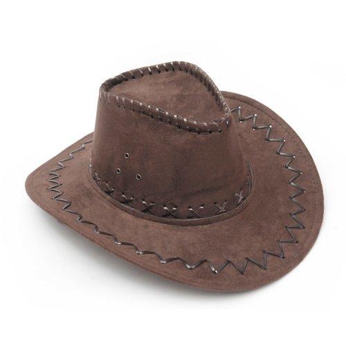 Western Cowboy Marron foncé Cowgirl Cattleman Hat pour enfants Fêtes pour enfants Costume
