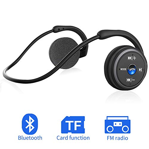 Bluetooth Kopfhörer Sport on Ear Wireless Headphones (Schwarz)