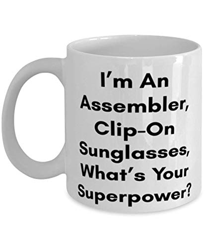 Superpower Assembler, Clip-On Sunglasses Mug - Assembler, Clip-On Sunglasses Gifts - Best Assembler, Clip-On Sunglasses Gifts