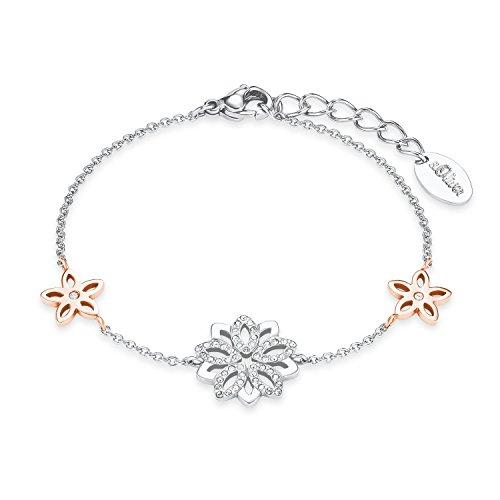 s.Oliver Damen Armband 17+3cm Edelstahl veredelt mit Kristallen von Swarovski