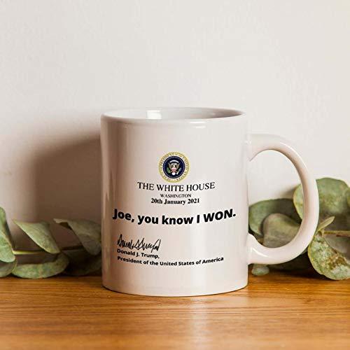 Trump 2024 Mug I'll Be Back, Joe You Know I Won Mug, Donald Trump President Coffee Cup, Funny Trump Mug, Trump 2021 C-03032143