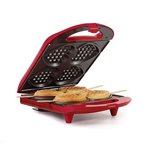Holstein Housewares HF-09031R Non-Stick Heart Waffle Maker, Red