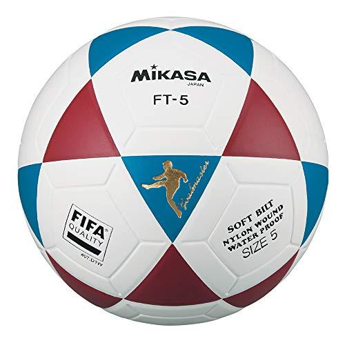 MIKASA FT5 FQ BR, balón fútbol Unisex Adulto, Blanco/Azul/Rojo