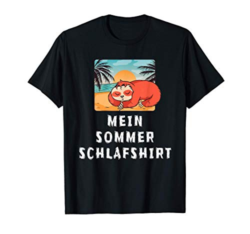 Lustiges Sommer Schlaf Outfit Nachthemd Pyjama Schlafanzug T-Shirt