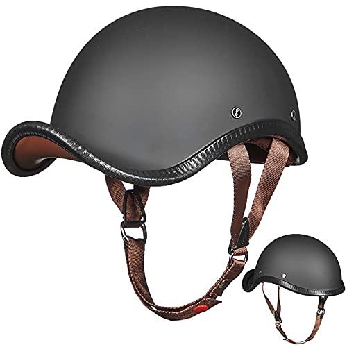 Casco de Motocicleta, Casco Jet de Cara Abierta Aprobado DOT/ECE Chopper Biker Ciclismo Moto Scooter Motocross Trajes Hombres Mujeres Sombrero de Seguridad Half-Helmet