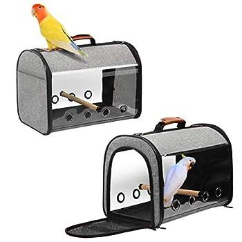 Sac De Transport d'oiseaux Boîte De Transport Cage De Voyage pour Oiseaux 30 X 25 X 43 Cm Cage De Transport d'oiseaux Respirante avec Conception À Double Fermeture Éclair Utilisée