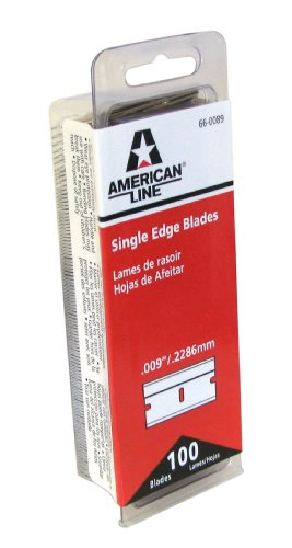 American Safety Razor 66-0089 Single Edge Razor Blade Box (Pack of 100)