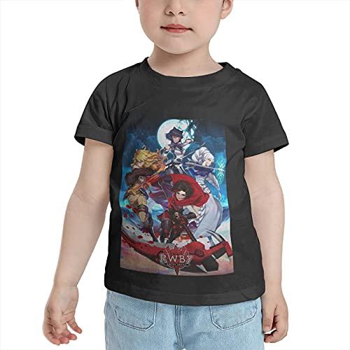 RWBY Ruby Weiss Blake Yang Anime Boys T-Shirt Crew Neck Short Sleeves Cotton Cartoon T Shirts 3T