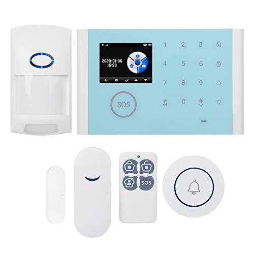 Sistema inalámbrico de seguridad para el hogar Sistema de alarma antirrobo Wifi inalámbrico Pantalla a color TFT de 2,4 pulgadas Kit de detector de infrarrojos de control remoto a prueba de mascotas