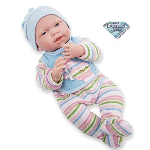 JC TOYS - La Newborn Bambola bambino, colore blu (18057)