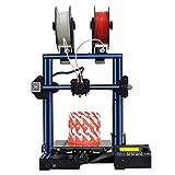 GEEETECH A10M 3Dプリンター デュアルエクストルーダ・ミックスカラー、フィラメント検出および中断復帰機能、Prusa I3半完成DIYキット …
