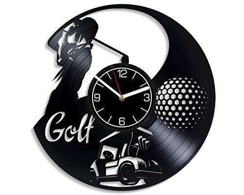 Kovides Golf Wall Clock Modern Sport Gift Golf Vinyl Record Wall Clock Golf Club Wall Art Golf Home Decor 12 inch Wall Clock Golf Vinyl Clock Golf Xmas Gift for Men Golf Clock Golf Sport