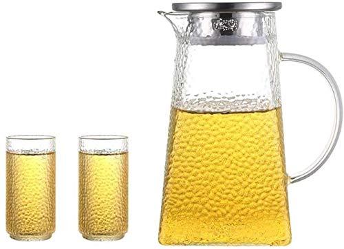 SKYEI Tetera Tetera 1200ml Jarra de Cristal Tetera de té Helado de Gran Capacidad Muy Adecuado para Botellas de Leche y té Helado Café de té de Jugo de café