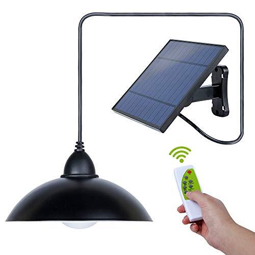 Solar Pendelleuchte -3 Modus Lampe Lampe IP65 wasserdicht Indoor Outdoor Garten Beleuchtung Schuppen Licht mit Fernbedienung (Lampenschirm)