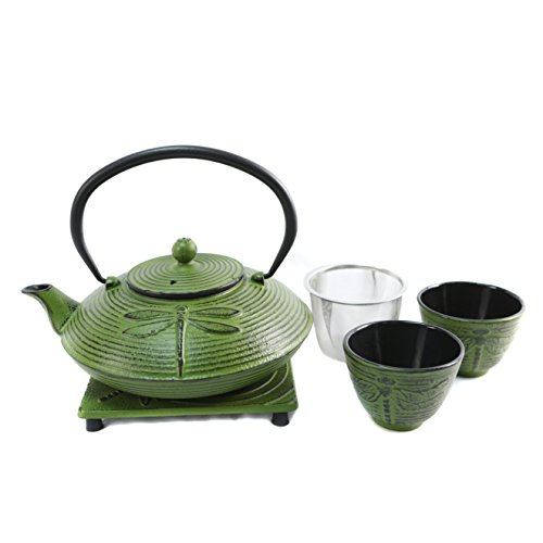Cuisiland Dragonfly Cast Iron Teapot Set